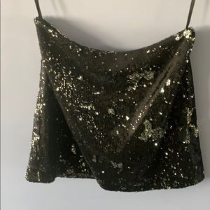 French Connection black sequin skirt, size 2